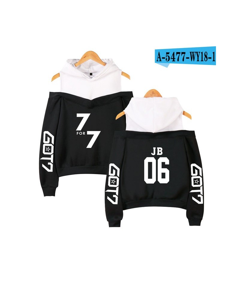 KPOP Got7 k-pop hooded shoodies autumn sweatshirt female winter fashion casual hip hop funny KPOP clothes XS-2XL - black - 4...