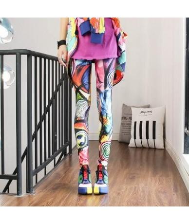 2019 Women Leggings High Waist Cartoon Comic Beauty Print Trousers Soft - 20 - 4V4157739043-20