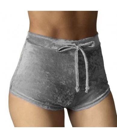 2019 Women Shorts Fashion Sexy Bodycon Workout Flannel Short Pants Feminino Pantalones Mujer Fitness Soft Sportwear - gray -...