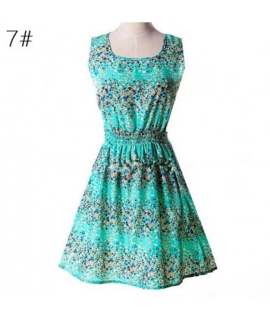 Print Dress Women Summer Dresses Leopard Vestido Plus Size S-XL Slim Beach Dress Girl High Quality Casual Mini Dress - 7 blu...