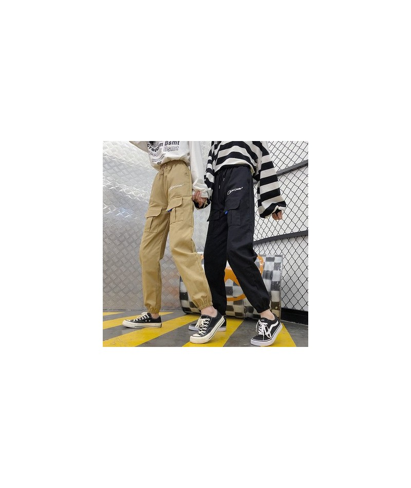 Pants Women High Quality Cargo Ankle-Length Trousers Soft Harajuku Korean Style Womens Trendy Solid Pockets Casual All-match...