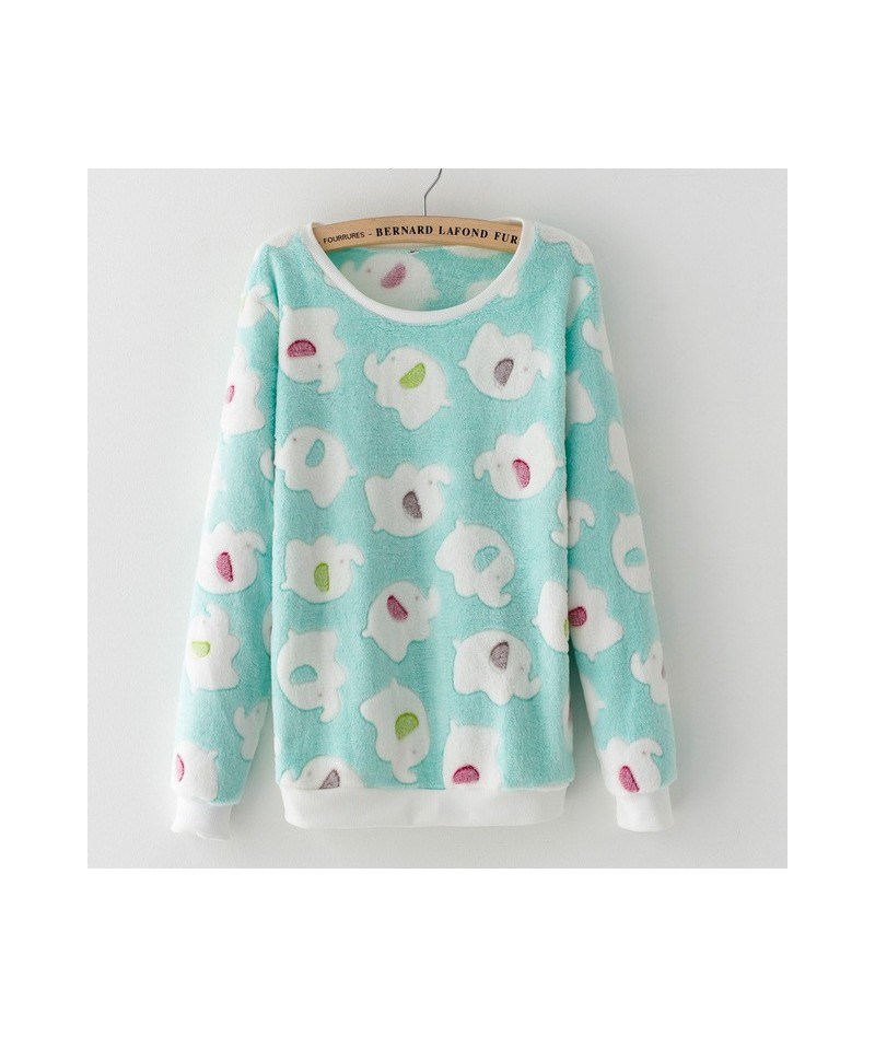 Spring Women Sweatshirt Printing Animal Stars Cartoon Fleece Polka Dot Velvet Pullovers Hoodies Long Sleeve Knitted Tops MZ2...