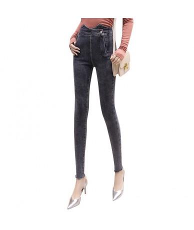 New Women's irregular high waist Jeans Stretch Denim Pants Female Skinny Trousers For Women - - 5X111181583643