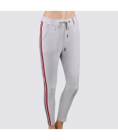 Women Side Stripe Retro Leggings Pants Ladies Vintage Elasitic Waist Ankle-Length Pants Autumn Fashion Casual Trousers 2018 ...