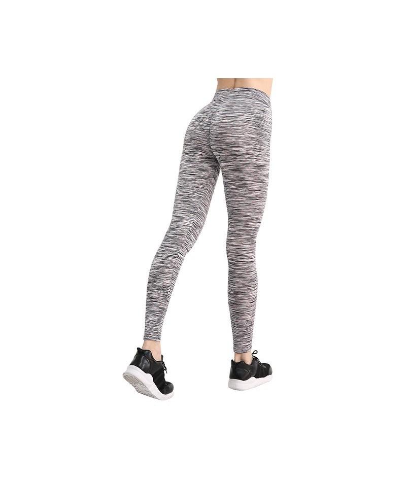 Women Push Up Leggings for Casual Workout Fitness Leggings Pants Women Stretch Skinny Trousers Women - Stripe- Black Red - 4...