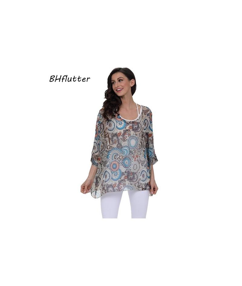Beach Dress Boho Style Batwing Floral Print Summer Dress 2018 New Arrival Women Chiffon Dresses Plus Size 4XL 5XL 6XL - pict...