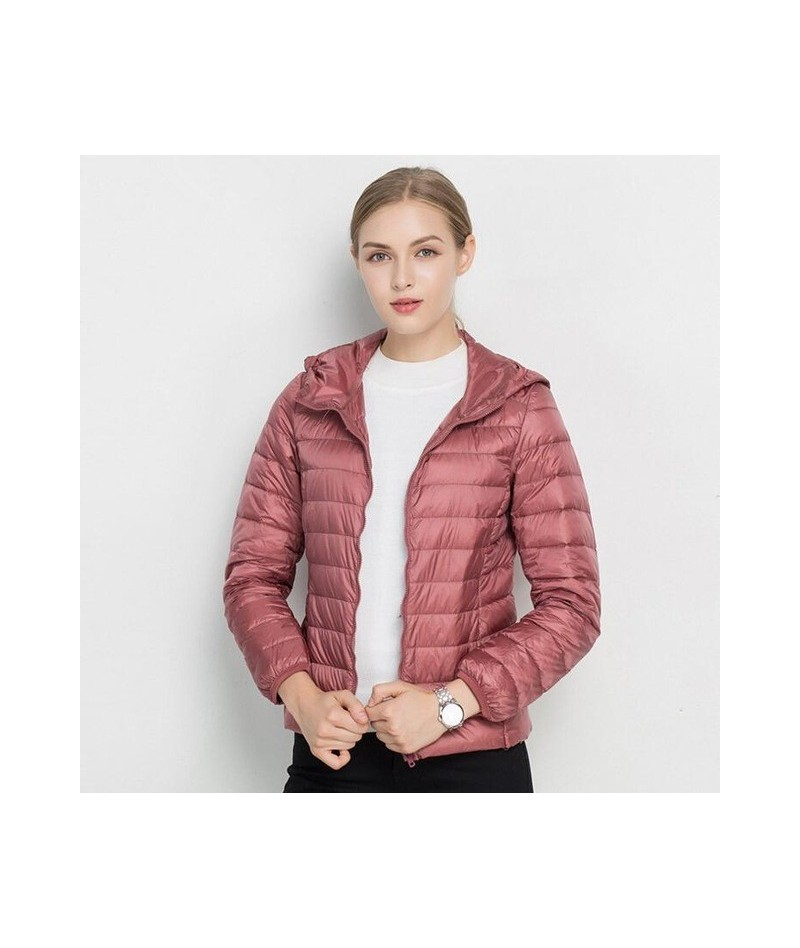 2019 New Brand Autumn Spring Women Basic Jacket Female Slim Zipper Hooded Coats Casual Black Jackets Christmas Clothes - dar...
