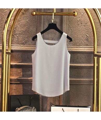 S-5XL Spring Summer Tank Top Female Harajuku Casual Chiffon Sleeveless Plus size Tops Women Streetwear Loose Ladies Tops Q11...