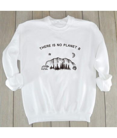There Is No Planet B Sweatshirt Women Polar Bear Graphic Hoodies Save The Earth Slogan Jumpers Casual Girl Shirts Drop Shipp...