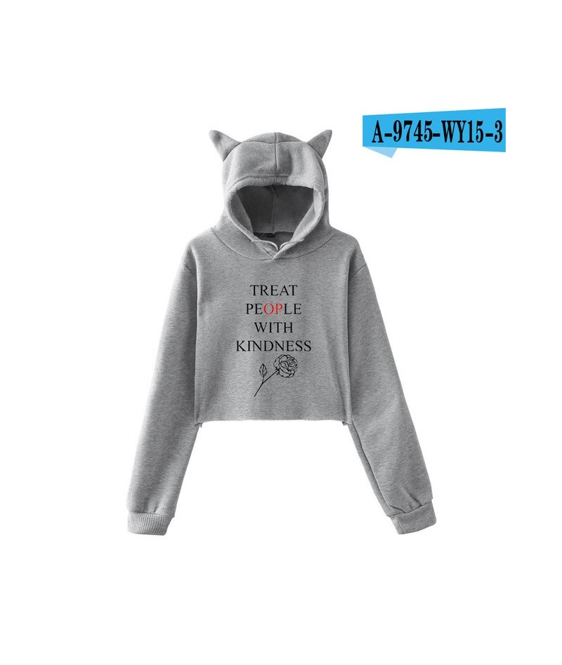 Harry Styles Treat People With Kindness Cat Ear Hoodies Women Trendy Printed Sexy Style Hooded Sweatshirts Fashion Casual We...