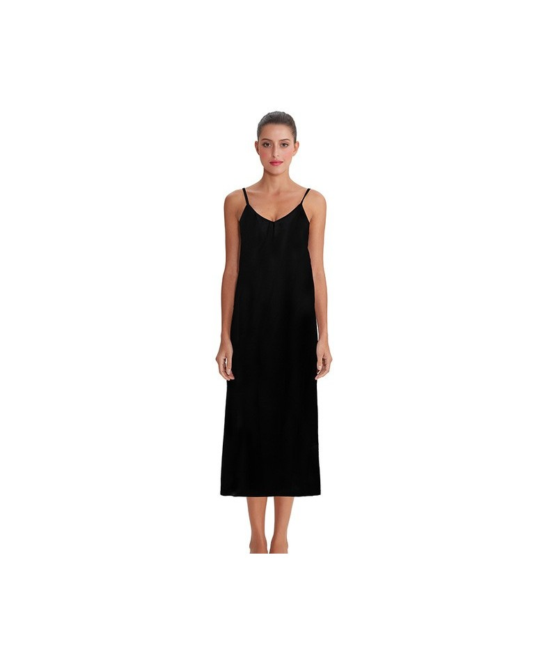 High quality women dress Summer spaghetti dress satin long dress very soft smooth M30262 - 4 - 4H4134780761-4