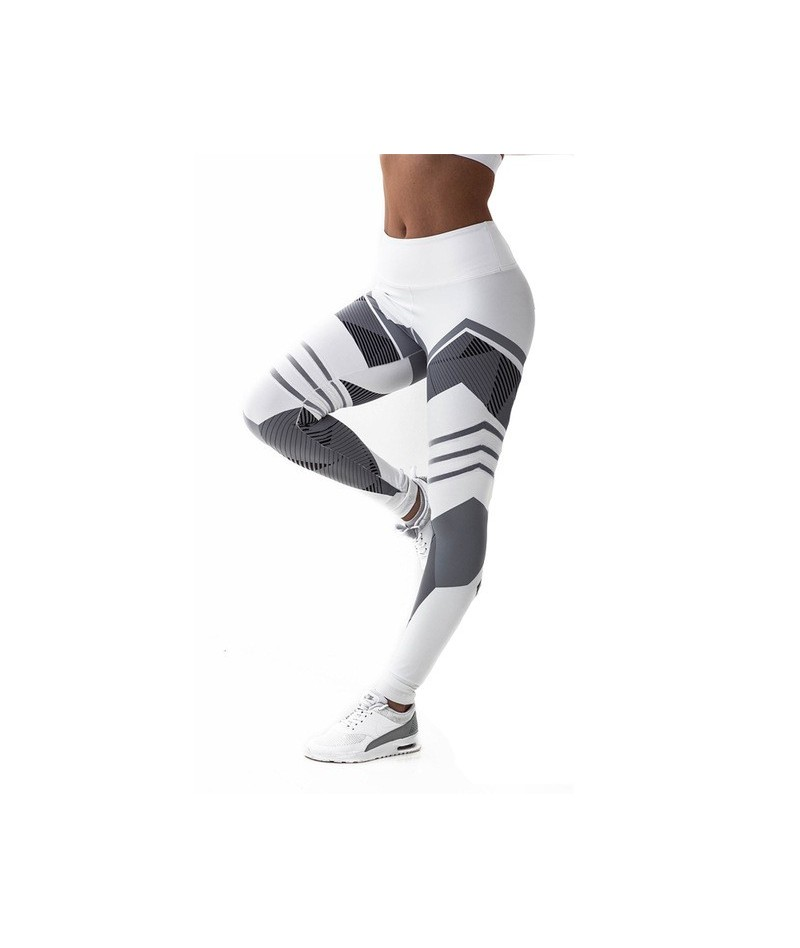 High Waist Fitness Leggings 3D Digital Printed Women Push Up Pants Gothic Jeggings Legins Slim Workout Leggings Leggins - Wh...