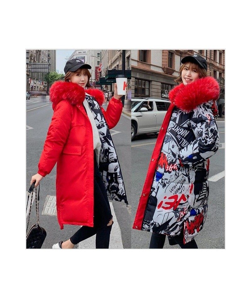 Double sided wear Women Parka Warm Women Winter Coat Fake Fur Hooded Winter Jacket Women Thicken Outwear plus size 3XL 256 -...