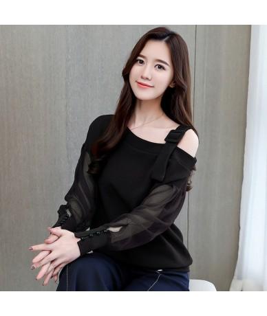 Autumn long sleeve shirt women fashion woman blouses 2019 sexy off shoulder top solid women blouse shirt clothing female 122...