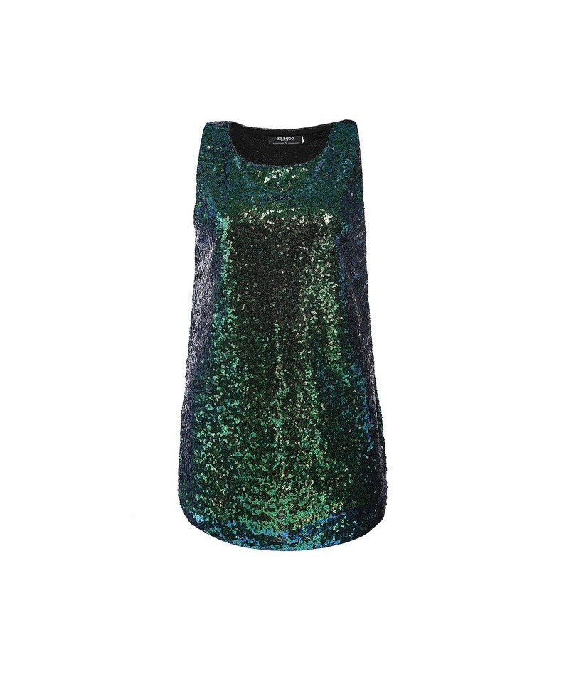 Glitter Sequins Women Tank Fashion Shimmer Flashy Embellished O Neck Sleeveless Vest Tank Tops for Party Clubwear Women Clot...