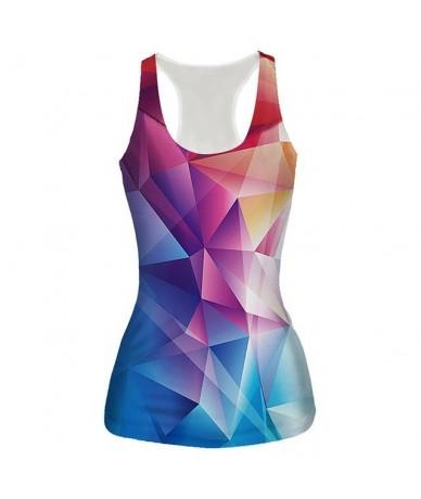 New Womens 3D Tank Top Galaxy Space/Orange/Skull/Graphic Print Vest Sleeveless Tee Fashion Bottoming-shirt Dropship - 10 - 4...