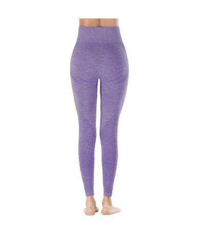 Women Purple Seamless Leggings New Tummy Control Fitness Leggings High Waist Pants Sporting Workout Casual Leggings - NS6023...