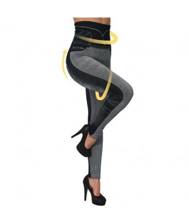 Women Elastic Denim Jeans Ladies Seamless Floral Print Sexy Full Trousers Plus Size Streetwear Jean Taille Haute - Type3-gra...