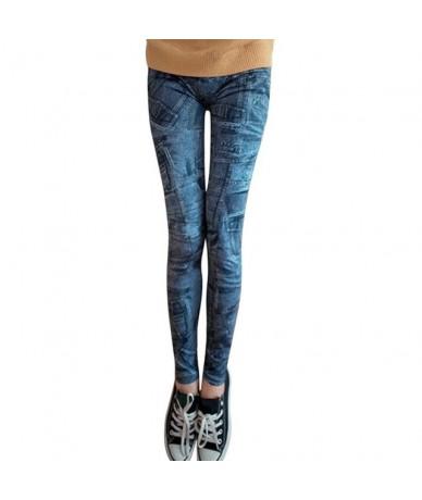 Fashion Women Snowflake Leggings Skinny Distressed Stretchy woman Jeans Pants Vintage Denim Pant Sexy Leggings - 6A - 4R3069...