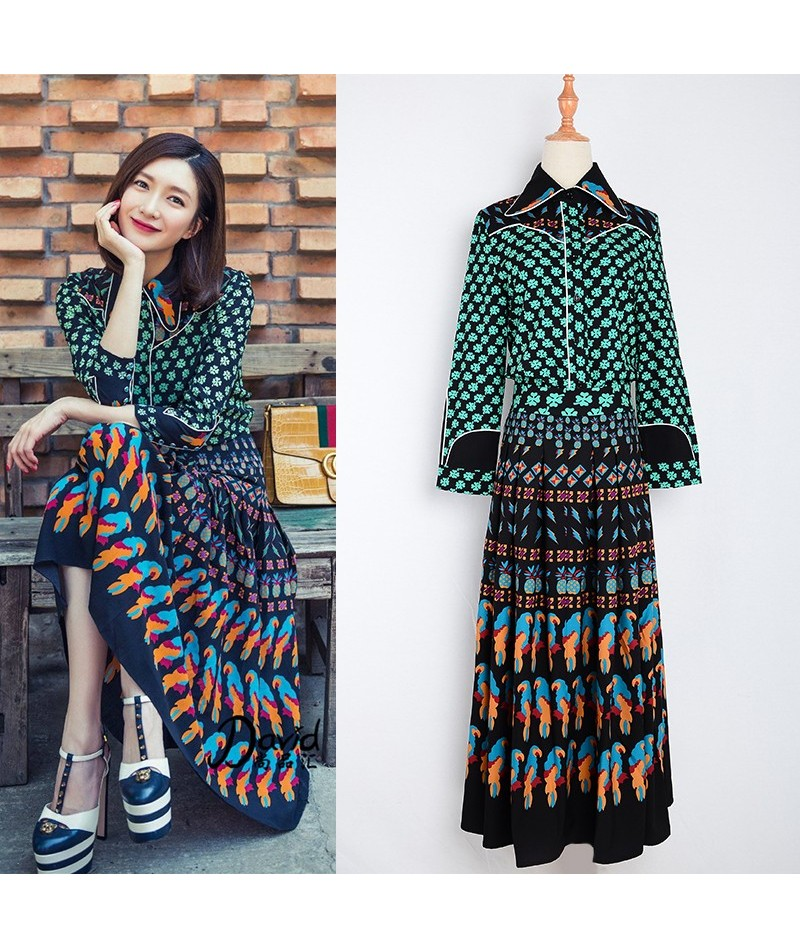 S-3XL Top Fashion Women's Summer Vintage Bohemian Outfit Printed Blouse Long Skirt Runway 2 Piece Set Retro Twin Set tracksu...