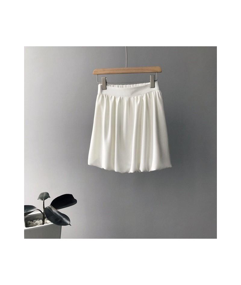 2019 Summer New Women Short Skirt Kawaii Black Pleated High Waist School Lantern Fit Loose Women Skirts Soft Girls Skirts - ...