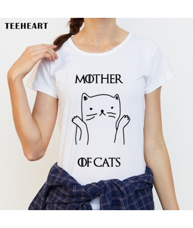 2017 New Fashion Women T Shirts Short Sleeve Slim Lady T-Shirt Mother Of Cats Printed Tops Funny Casual Tee - pz036 - 4P3945...