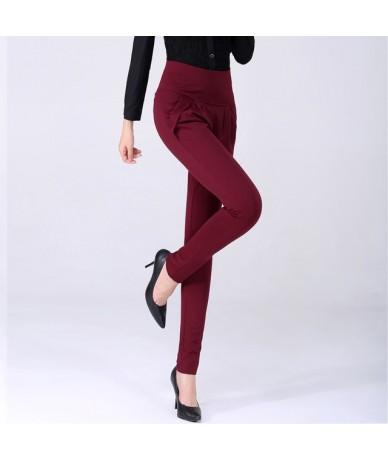 New Autumn Women Casual Loose High Waist Harem Pants Ladies Office Pants Plus Size Trousers S~4XL 5XL 6XL Blue Red Khaki Bro...