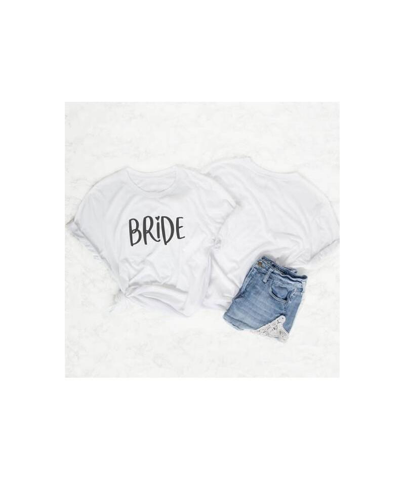Team bride couple t-shirt camiseta rosa feminina bride squad weed clothing pretty women fashion tees cotton graphic slogan t...