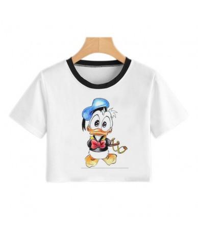 New Harajuku Kawaii Women T Shirt Summer Cute Mouse Print T Shirt Women Casual Crop Top White Funny T Shirt Women Vogue Tee ...