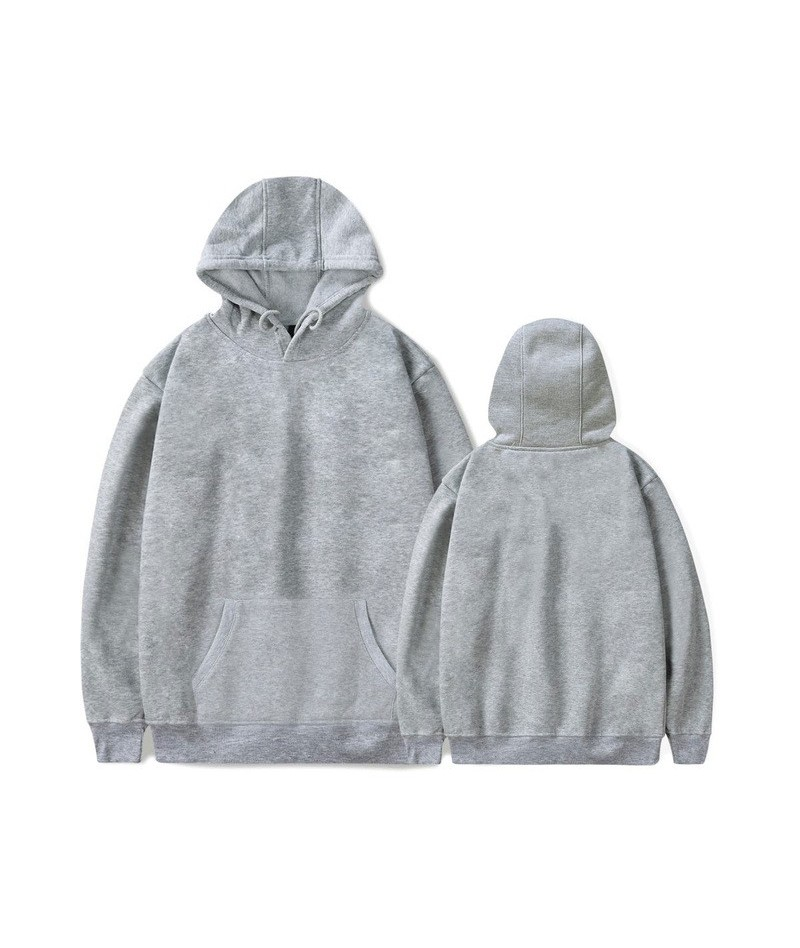 Solid Hoodies Sweatshirt Casual Winter/Autumn 2018 New Style Solid Color Clothes Plus Size - GRAY - 433058625491-3