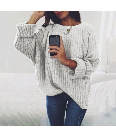 sweaters fashion 2018 women clothing loose casual solid pullovers knitwear autumn winter sweater ladies jumper 7 colors - li...