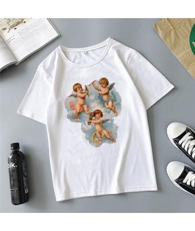 Angel children fight printing cartoon cute Harajuku summer new fashion ins casual loose women's T-shirt tops - 5 - 4O3088960...