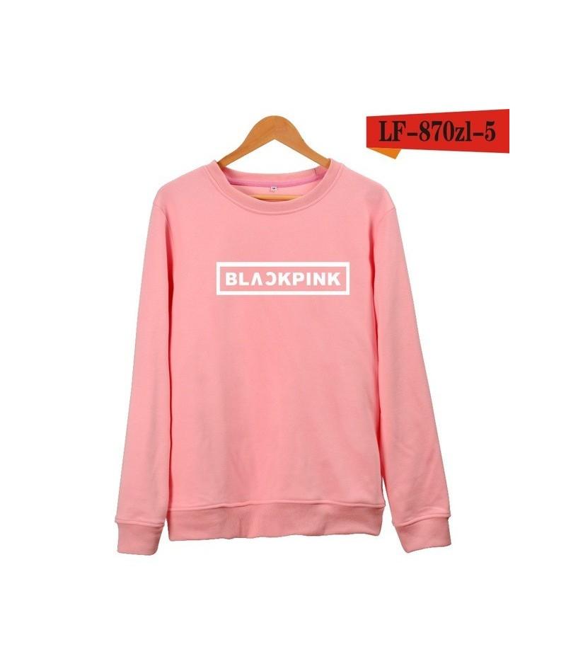 KPOP Korean Fashion Sweatshirt Women Pullover Blackpink Letter Printed Hoodies JENNIE ROSE LISA Pink Fleece Hoodie - 13 - 4U...