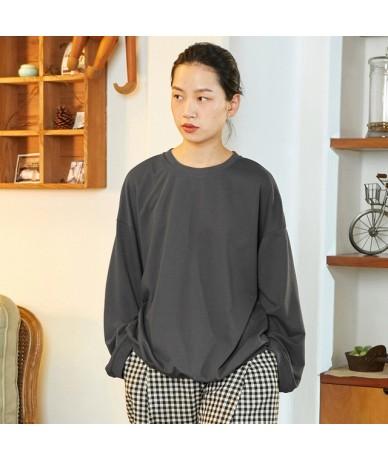 Samstree Back Print Female Sweatshirt shirt Autumn Long-Sleeve Drop-shoulder Tops O-neck Loose Streetwear Women Pullovers - ...