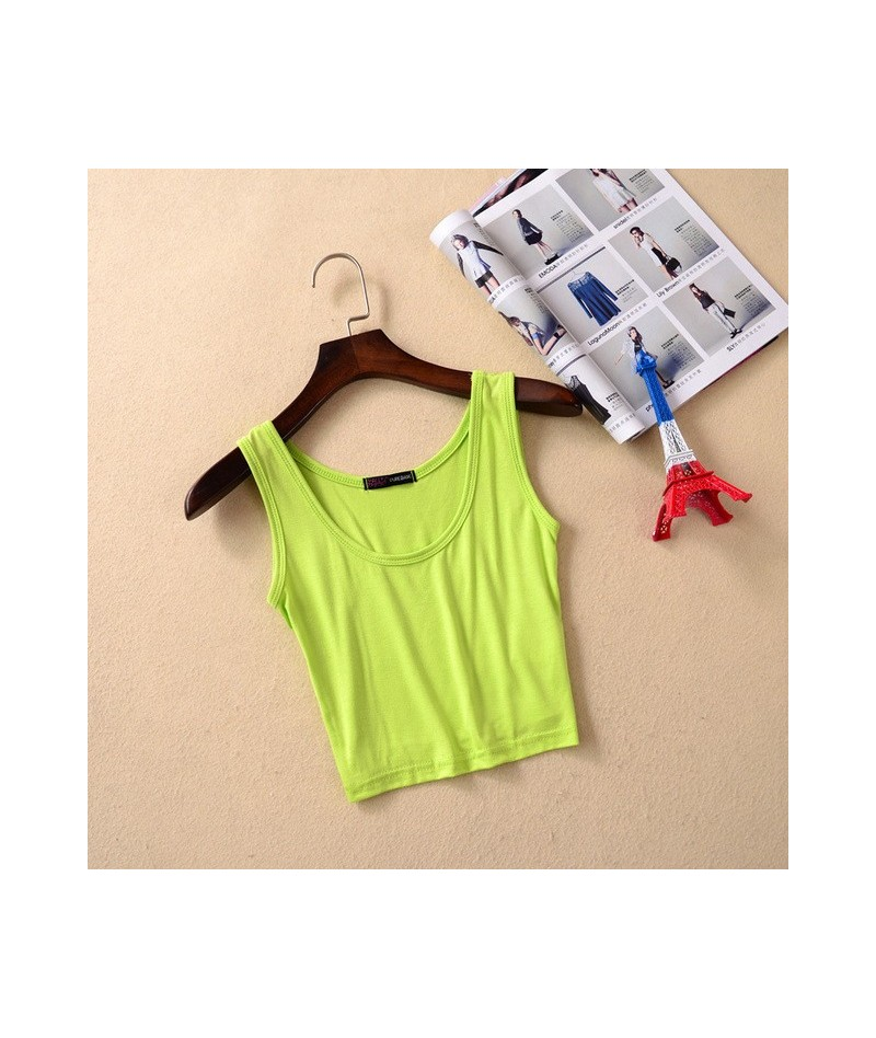 2018 New Fashion Fitness Women Tank Crop Tops Summer Cute Tops Short Fitting Vest Modal Women's Sexy Camisole Tank Top - Gre...
