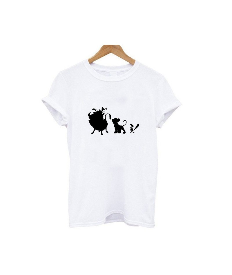 New Hot Bestie Shirts Woman Hakuna Matata Ullzang Lion King Print Leisure T-shirt Short Sleeve O Neck Tshirt - 19bk004 - 484...