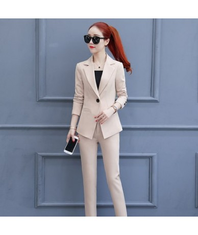 Fashion ladies small suit suit female spring new 2019 Korean Slim was thin temperament professional suit two sets of tide TX...