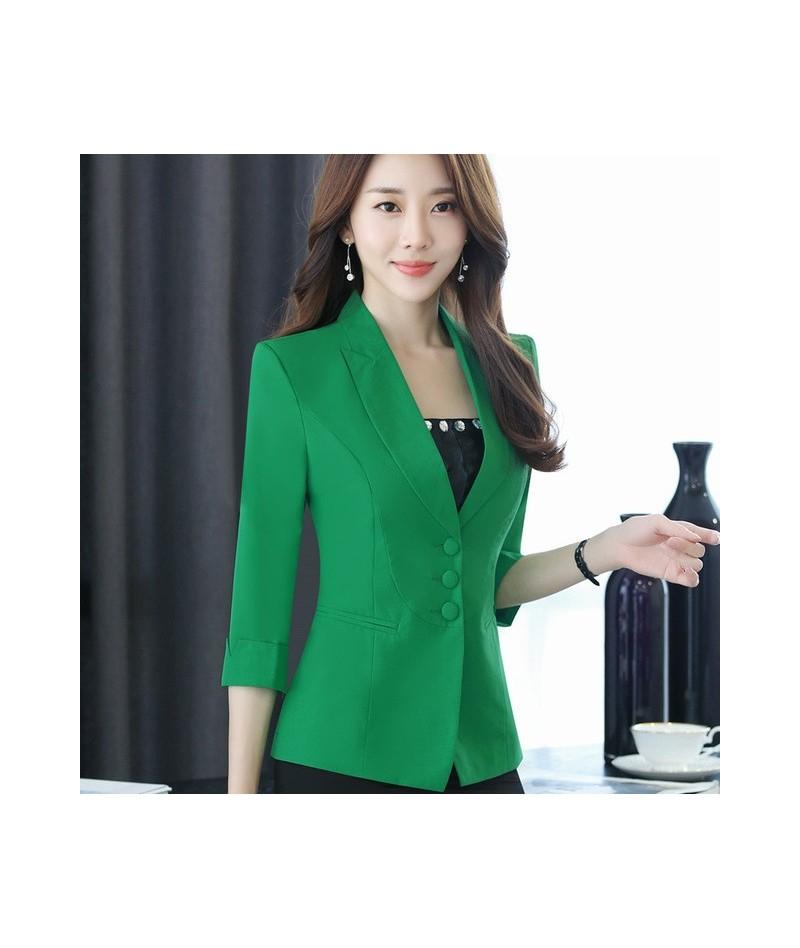 Autumn Women career fashion half sleeve women blazer New plus size formal slim jackets office ladies plus size work wear uni...