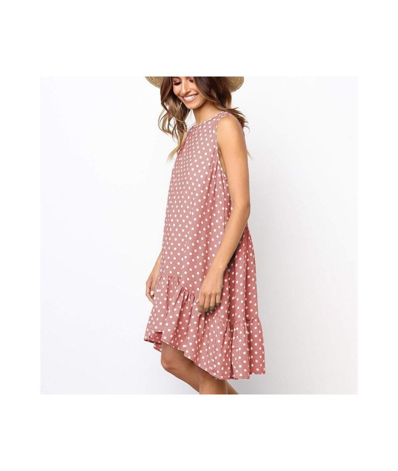 Plus Size Sleeveless Polka Dot Dress Women Shirt Summer Beach Dress Vestidos de festa Loose Casual Sexy Club Dresses Robe Fe...