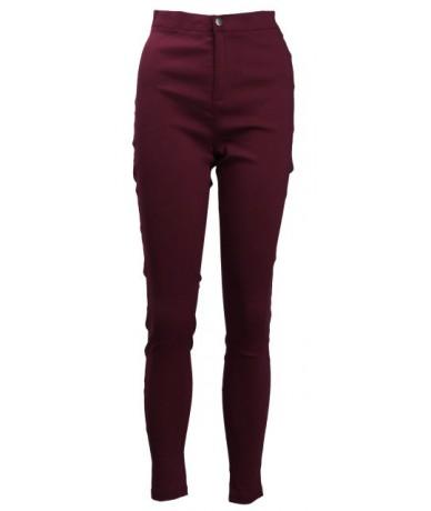 HOT SALE Women Denim Skinny Jeggings Pants High Waist Stretch Jeans Slim Pencil Trousers - Red - 4E3059985629-4