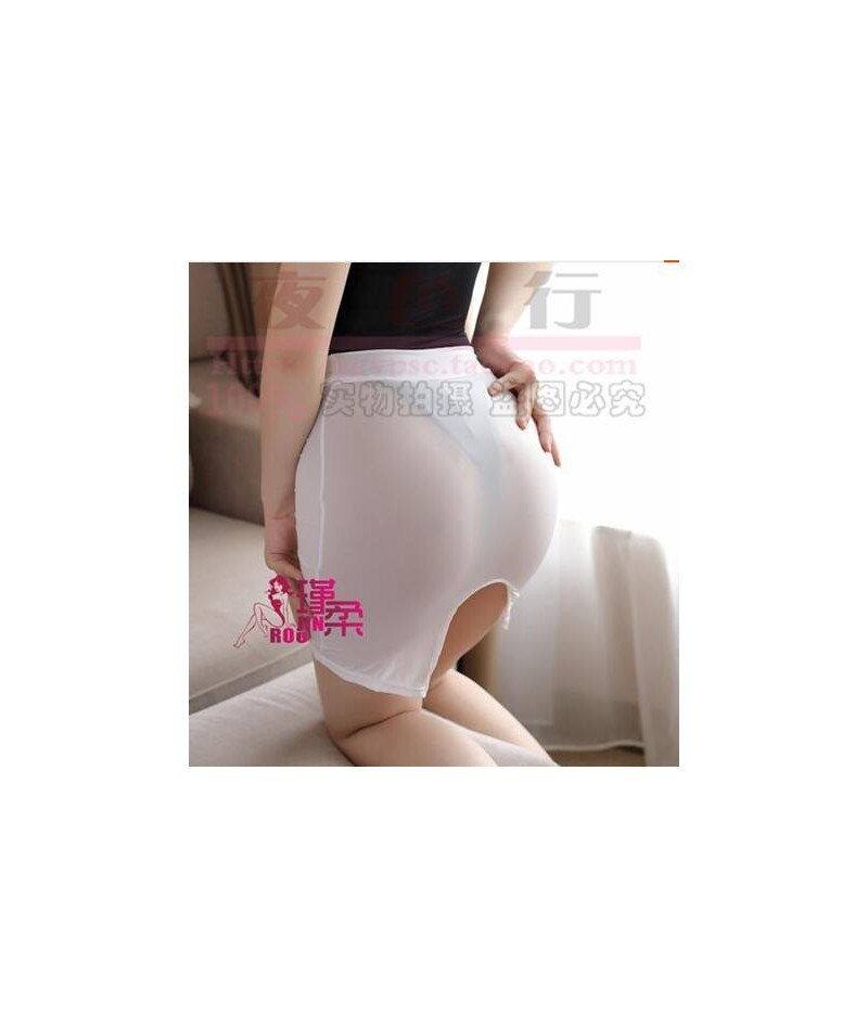 New Sexy Women High Cut Tight Pencil Cute Skirt Ice Silk Micro Mini Skirt Transparent Night Club Skirt Fantasy Erotic Wear F...