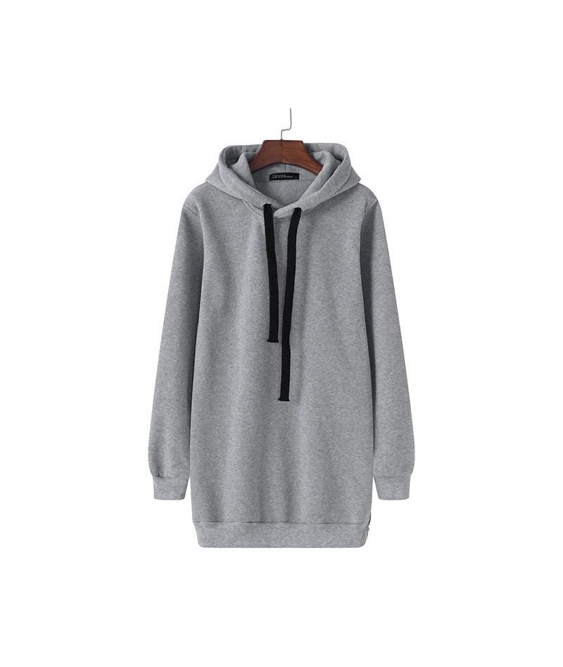 Women's Hoodies 2019 Hooded Pullovers Female Jackets Autumn Casual Fleece Side Zipper Jumpers Plus Size Sweatshirts S-5XL - ...