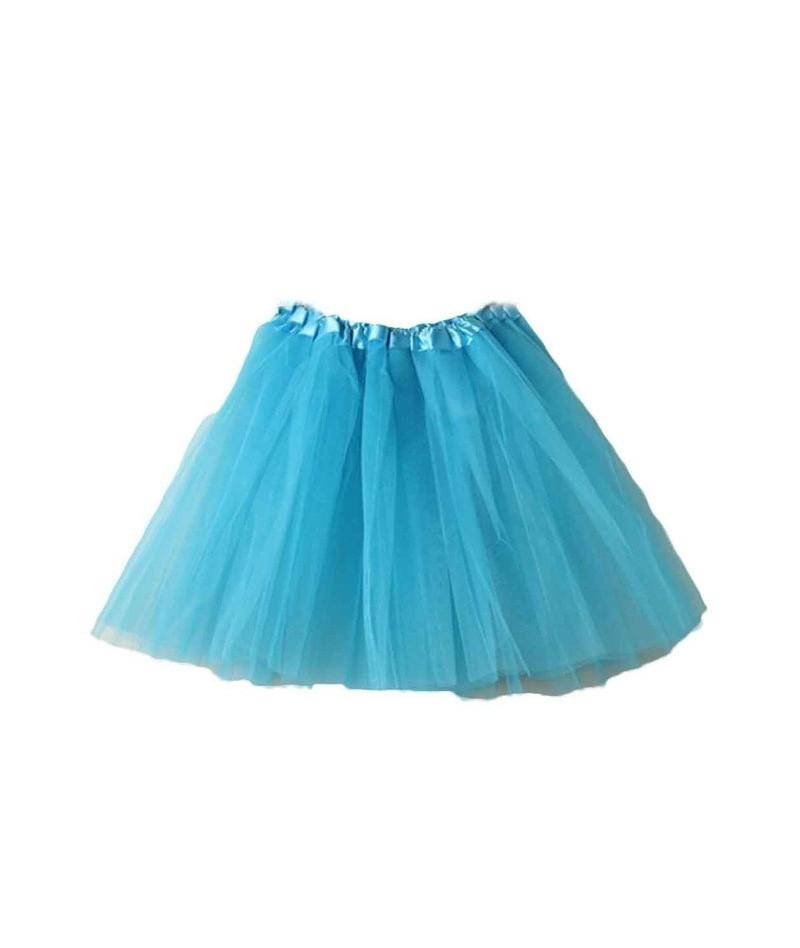 Fashion Skirts Womens Available Summer Tulle Skirt Ladies Girls Adult Tutu Dancing Mini Skirt Elastic jupe femme falda - Sky...