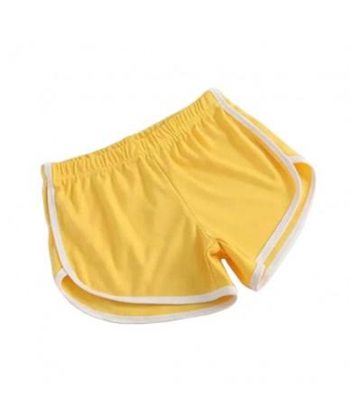 2019 New fashion Summer Shorts Women Casual Shorts Workout Waistband Skinny Short for women - YELLOW - 4T3086632581-12