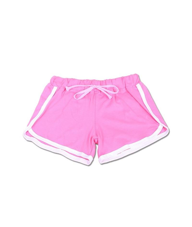 2019 Summer Hot Sale Shorts Women Casual Shorts Loose Cotton Side Split Elastic Waist Women Shorts - Pink - 473785175245-4