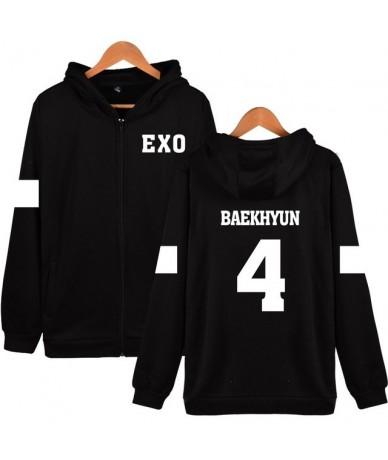 kpop Kpop EXO Hooded Sweatshirt Women Korean Popular Team Hip Hop Winter Coat Fashion Women Hoodies Sweatshirts Casual Zippe...
