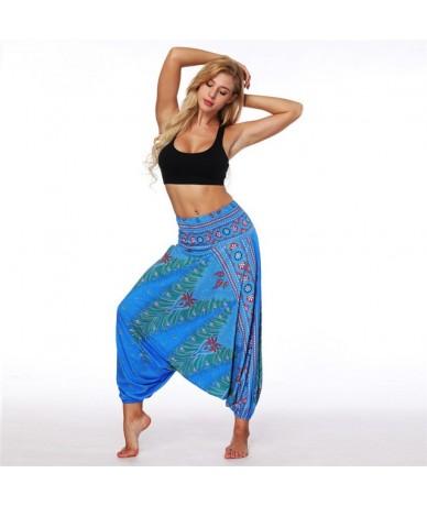 Wide Leg Pants for Women Bohemia Multicolor Print Long Yuga Pants Indian Loose Comfy Harem Trousers High Waist Bottom - YCL0...