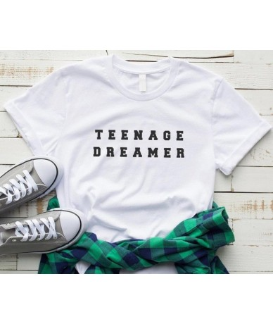 Teenage dreamer Women tshirt Cotton Casual Funny t shirt For Lady Yong Girl Top Tee Hipster Drop Ship S-385 - White - 474127...