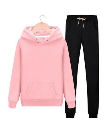 2 Piece Tracksuit Women Pink Hoodie Sweatshirt Female Sport Pullover Suits Women's Sport Suit Set Tracksuit for Women Sweats...
