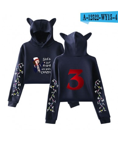 Cat Ear Hoodies Women Men Stranger Things 3 Print Sweatshirt Kpop Tops Casual Pullover Streetwear Moletom 2019 new Arrival -...